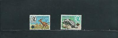 Swaziland 1975 Surcharge set of 2 SG 230/1 Used