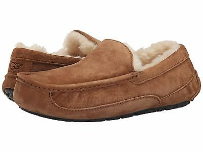 UGG Australia Ascot 5775 Chestnut Suede Slippers Loafers Moccasins Sizes 7 - 18