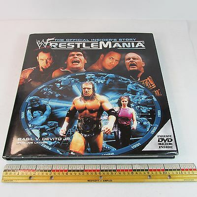 WWF WrestleMania Official Insiders Story 2001 1st Ed DVD 1985-2000 Torn DJ HC