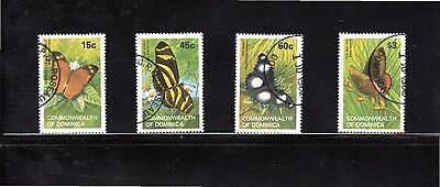 Dominica 1982 Butterflies SG 816/9 Used