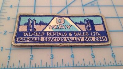 3 Way Oilfield Rentals & Sales Ltd. Drayton Valley Embroidered Patch