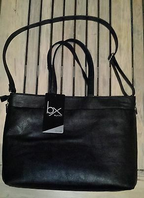Women's Buxton Black Laptop Brief Case Tote with padded laptop section