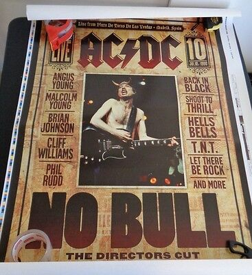 ACDC Live From Madrid Spain NO BULL Concert PROMO Demo Poster 1996 Music 42 x 30