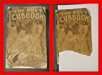 1930 First Edition Part 1 Wolf Rank BOY'S CUBBOOK Cubs Boy Scouts American BSA