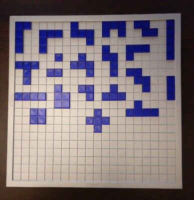 Blokus Strategy Game 21 Smooth Blue Bricks Pieces Complete Replacement Set Parts