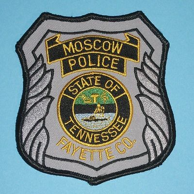 """Moscow Police Patch - Tennessee - 3 1/2"""" x 4"""""""