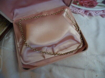 VINTAGE 9ct YELLOW GOLD 9 CT 375 CHAIN ANKLET OR BRACELET  26.5 CM long