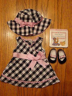 American Girl Bitty Baby Gingham Party Dress Set, 2011, EUC!