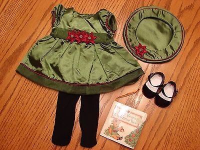 American Girl Bitty Baby Poinsettia Holiday Christmas Dress, 2001