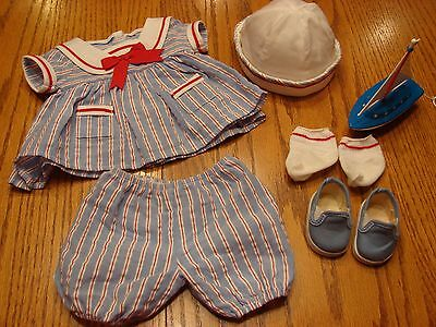 American Girl Bitty Baby Sailor Outfit, Sailing Set, 2000