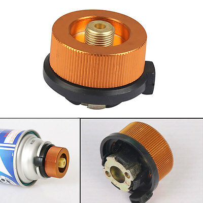 Outdoor Stove Burner Furnace Converter Connector Gas Cans Tank Adapter Hiking