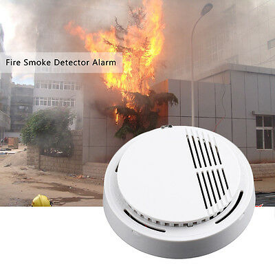 Fire Smoke Sensor Detector Alarm Tester Home Security System Cordless  LOT F0