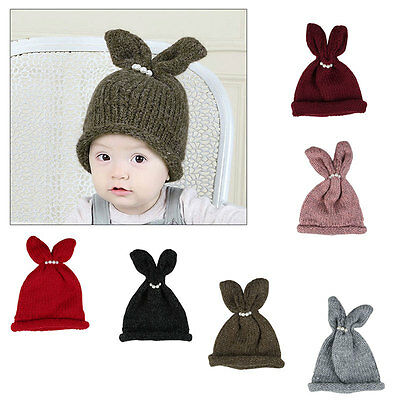 Kids Baby Cotton Beanie Girl Boy Soft Knit Hat Toddler Infant Kid Newborn Cap AU