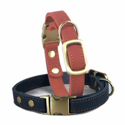 Adjustable Leather Dog Collar Cat Puppy Collar Pet Supply 25-36 CM For Small Dog