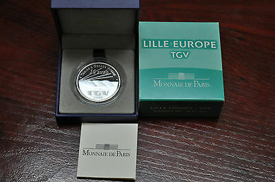 2010 France Tgv Lille Europe 10 Euros Plata Proof, Francia Silver
