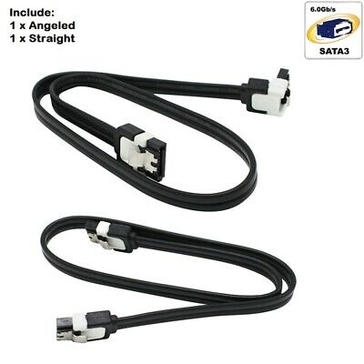2x ASUS SATA III 3.0 Data Cable 6Gbps for HDD SSD with Angle & Lead Clip sata3