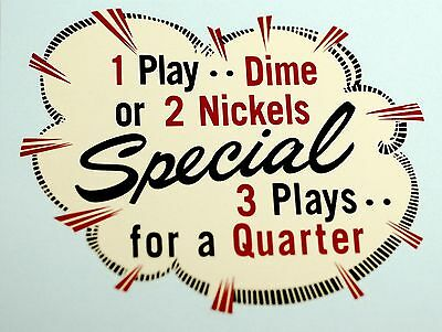 Juke Box Bubble Pricing Decal. # Dm1080, Coin Op.