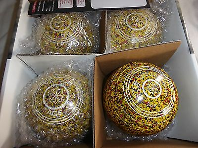 Thomas Taylor Ace Size 1 Heavy Yellow/red/black Ltd Ed Gripped Bowls