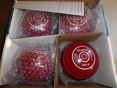 THOMAS TAYLOR VECTOR Vs SIZE 0 RED GRIPPED HEAVY  BOWLS