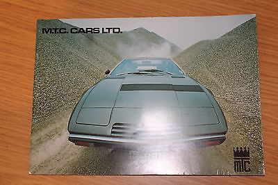 MTC Cars Ltd Sales Brochure Maserati, De Tomaso, Alfa Romeo 1978 Issue