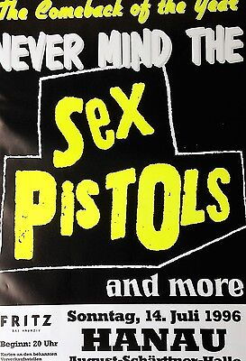 The Sex Pistols Poster Germany European Concert ORIGINAL, Not a Re-Print !