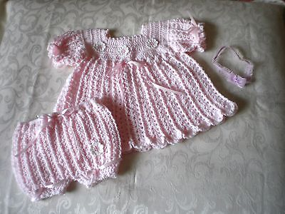 Handmade Pink 2 Piece Baby Set for 12 to 18 months