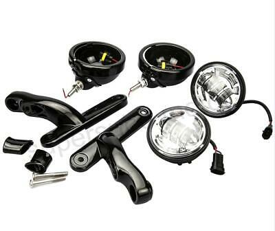 """4.5"""" Auxiliary Fog Passing Lights Housing Brackets For 09-13 touring Glide FLHX"""