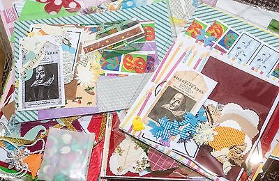 Craft activity pack beads,card,fabric die cuts,ribbons,findings,papers all ooak