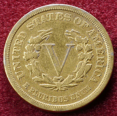 United States Nickel 1883 Gilded (A0710)
