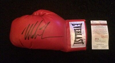 Mike Tyson Signed Autographed Red Everlast Boxing Glove (L/H #8) JSA COA