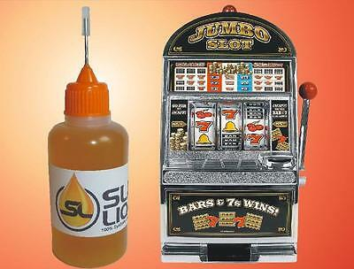 Slick Liquid SUPERIOR synthetic oil for all slot machines READ ME! Lube Bearings