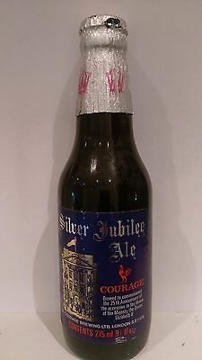 Vintage 1977 Courage Queens Silver Jubilee Sealed Ale Bottle *  Good Condition *