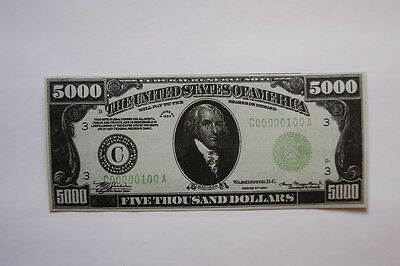 Banknotes Paper Money of the USA  5000 dollars of 1934 with Madison's( 30 PCS)