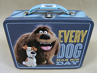 NEW The Secret Life of Pets TIN LUNCH BOX - Metal Storage/Pencil/Toy Case - 2016