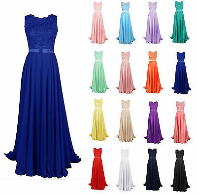 Long Chiffon Formal Gown Party Cocktail Evening Bridesmaid Dress Plus Size 6-28