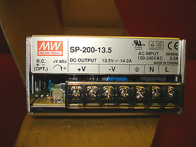 NEW Mean Well SP-200-13,5  13,5 Vdc 14,9 A Hi Q Power Supply for transceivers