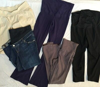 Lot of 5 Maternity Pants Capris Shorts, All Size SMALL. Free PRIORITY Shipping