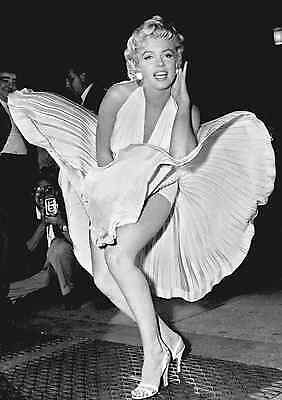 Icon Marylin Monroe Skirt Large  Poster Print Wall Art2 Size A4 A2 A1 A0