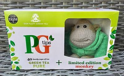 *NEW* Limited Edition PG TIPS Monkey Green Dressing Gown & 40 Green Tea Tea Bags