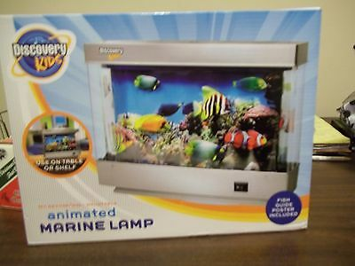 Discovery Kids Animated Marine Lamp Fish Tropical Night Light Table Or Wall Moun