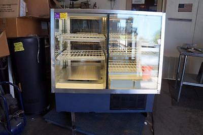 "Spartan 48"" Half Refrigerated Half Dry Bakery Donut Pie Cupcake Display Case"