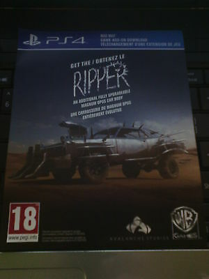 Mad Max PS4 DLC - The Ripper (Game Pack)  NOT FULL GAME