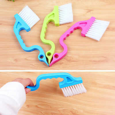 1pc Window Track Cleaning Brushes Sill Shower Sliding Wash Cleaner Color Hot