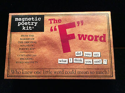 """NEW The """"F"""" Word Magnetic Poetry"""