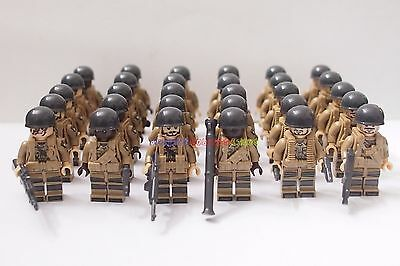 New Set WWII USA Minifigure 101st Airborne American Soldier Army Custom Brand
