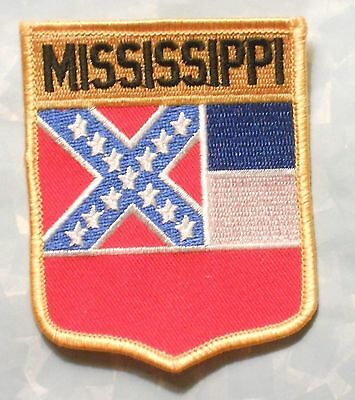 "Mississippi Patch - State Flag  - Travel Souvenir - 2 3/4"" x 3 1/2"""