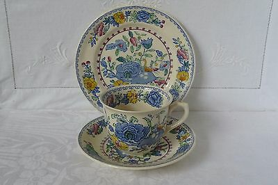 Vintage Masons Ironstone Regency Tea Cup, Saucer and Plate