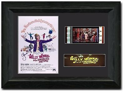 Willy Wonka & the Chocolate Factory 35 mm Framed Film Cell Display Signed Gene