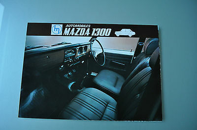 Brochure Prospekt Dépliant Prospectus 1960's MAZDA 1300 BERLINE BREAK French