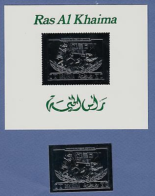 K93-Timbres SILVER Neuf**MNH RAS AL KHAIMA RUSSIAN COSMONAUTS- Space